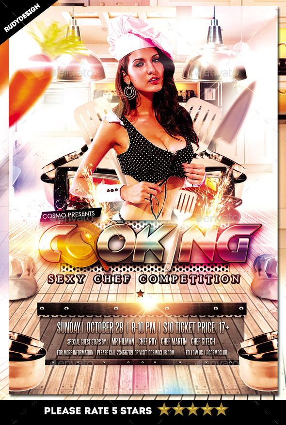 GraphicRiver Cooking Contest Chef Competition Flyer 9210533