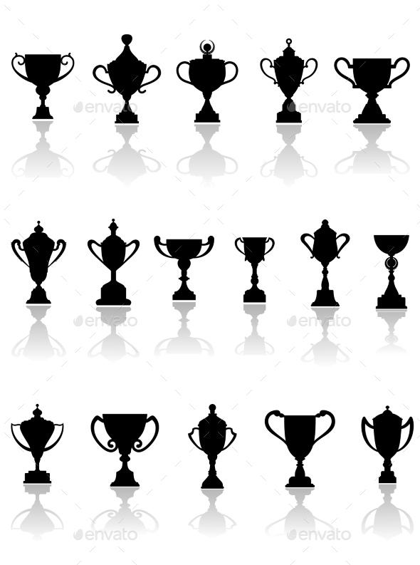 GraphicRiver Trophy Silhouettes 9258557