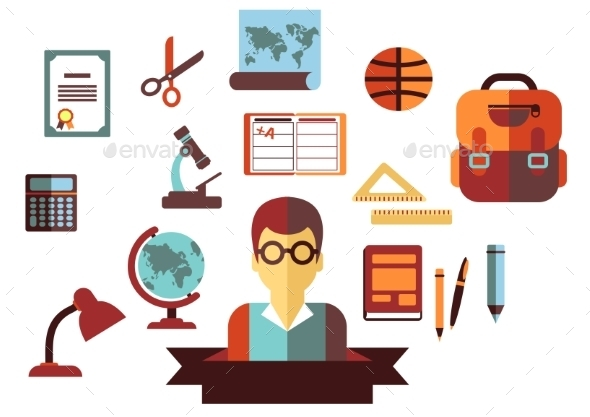 GraphicRiver School and Education Icons 9258572