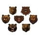 Bear Head Set - GraphicRiver Item for Sale