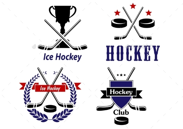 GraphicRiver Hockey Emblems 9258614