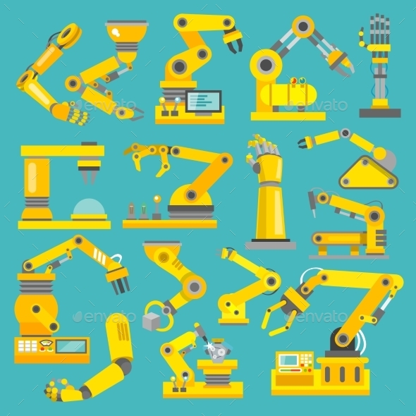 GraphicRiver Robotic Arm Flat 9258647
