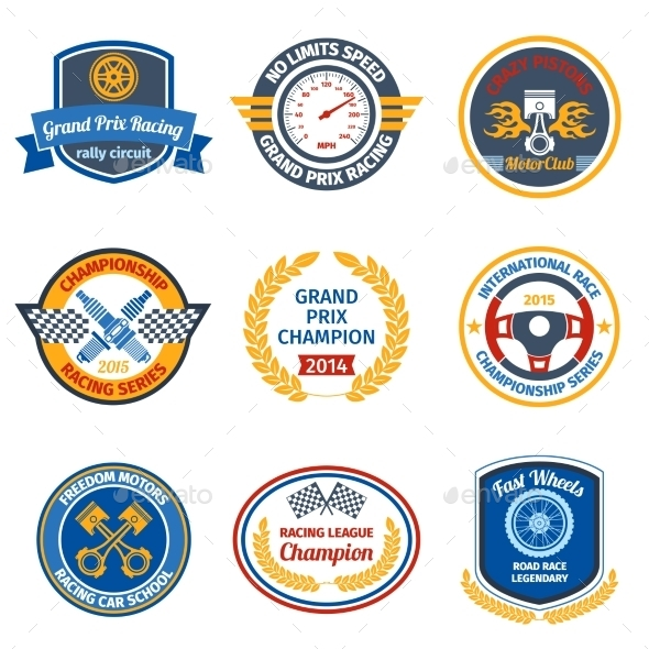 GraphicRiver Racing Emblems 9258651