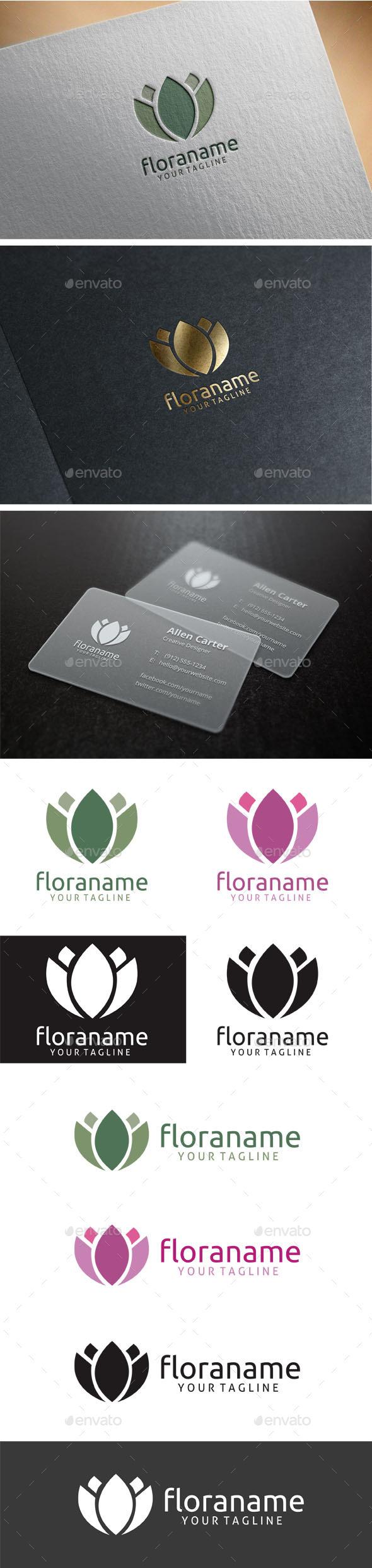 GraphicRiver Flora Logo 9258756