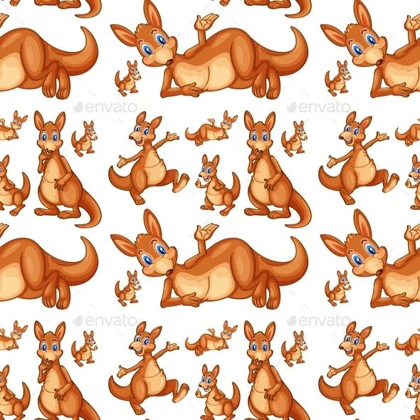 GraphicRiver Seamless kangaroo 9258757