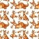 Seamless kangaroo - GraphicRiver Item for Sale