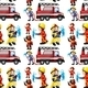 Seamless Firefighters - GraphicRiver Item for Sale