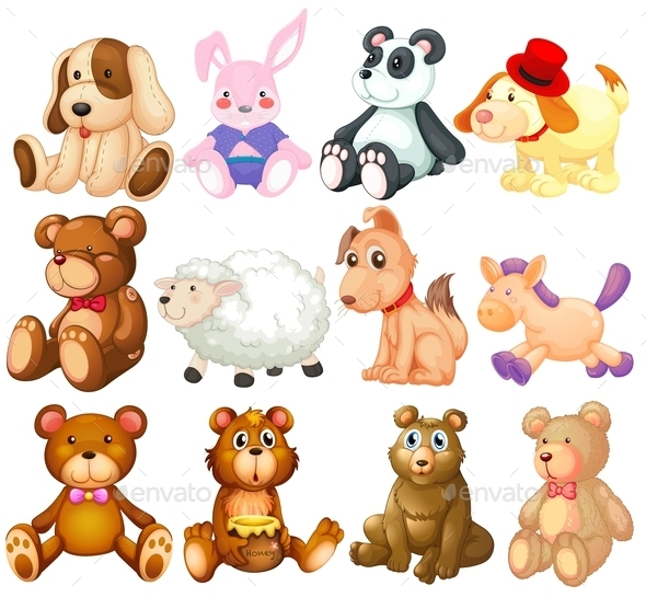 GraphicRiver Stuffed Animals 9258790