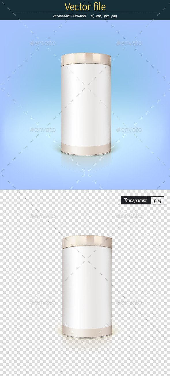 GraphicRiver Round Tin Packaging 9258807