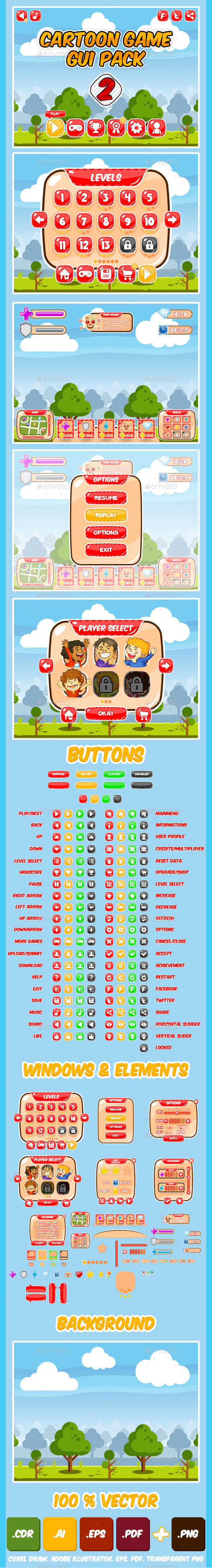 GraphicRiver Kids Game UI Kit Pack 2 9258814