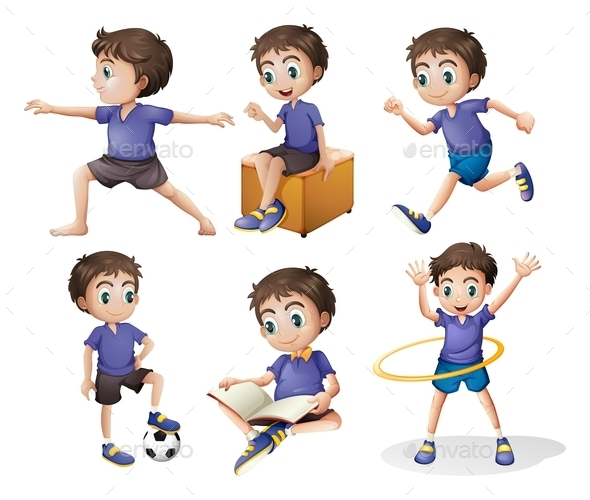 GraphicRiver Different Activities of a Young Boy 9258834