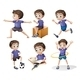 Different Activities of a Young Boy - GraphicRiver Item for Sale