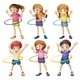 Kids playing Hulahoop - GraphicRiver Item for Sale