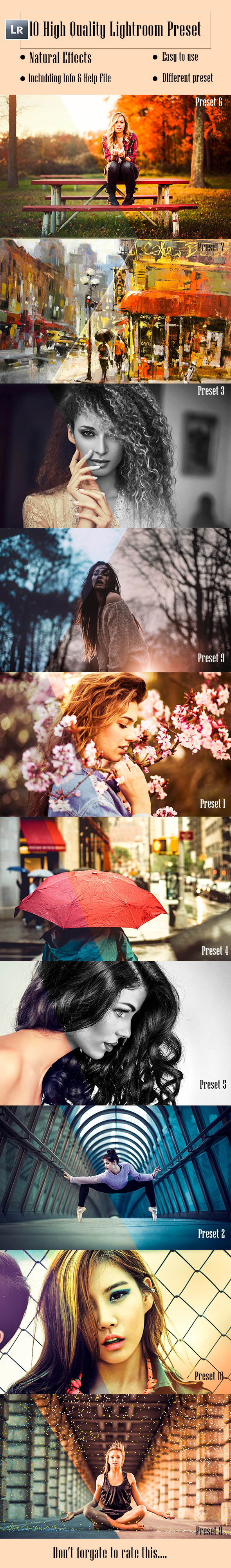 GraphicRiver 10 Lightroom Preset 9258863