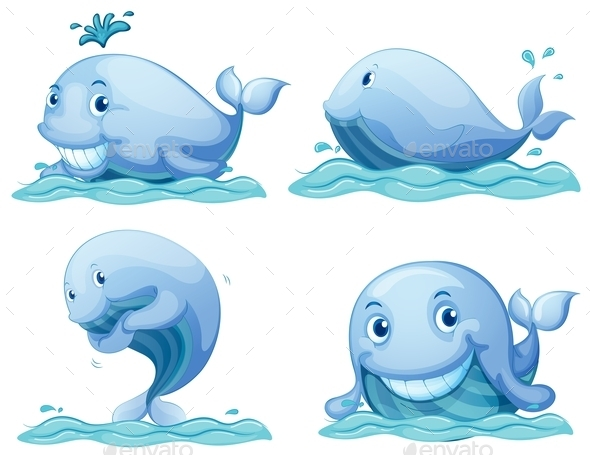 GraphicRiver Blue Whales 9258911