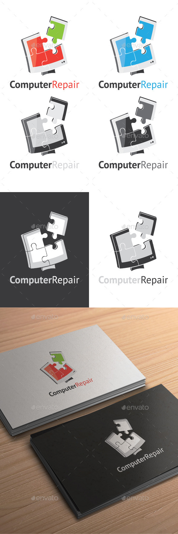 GraphicRiver Computer Repair Logo 9225053