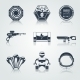 Space Game Icons Black - GraphicRiver Item for Sale