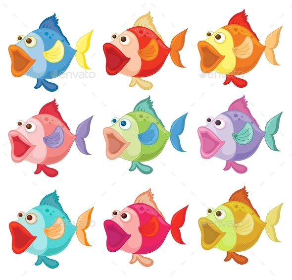 GraphicRiver Colorful Fishes 9258942
