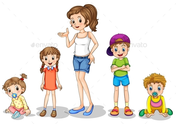 GraphicRiver Mother with Children 9258982