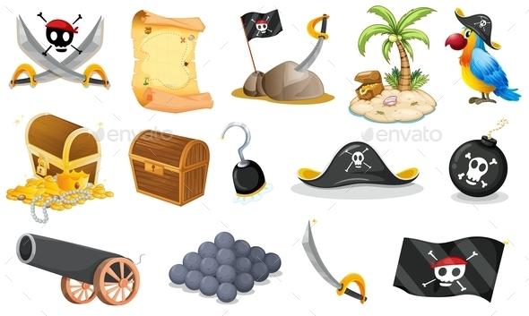 GraphicRiver Pirate Elements 9258987