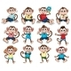 Monkeys with Different Emotions - GraphicRiver Item for Sale