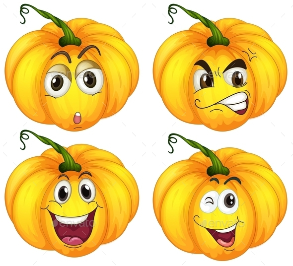 GraphicRiver Four Pumpkins 9259005