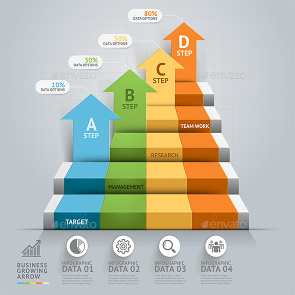 GraphicRiver Business Staircase Conceptual Infographics 9259007