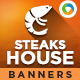 Steak House Banners - GraphicRiver Item for Sale