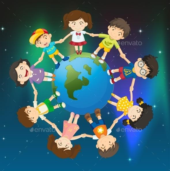 GraphicRiver Kids around the Globe 9259022
