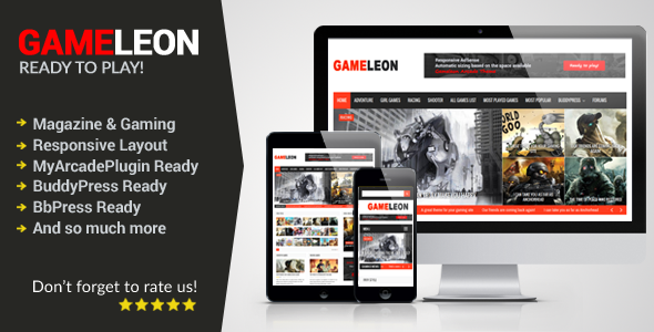 Gameleon - WordPress Responsive Arcade Theme - Entertainment WordPress
