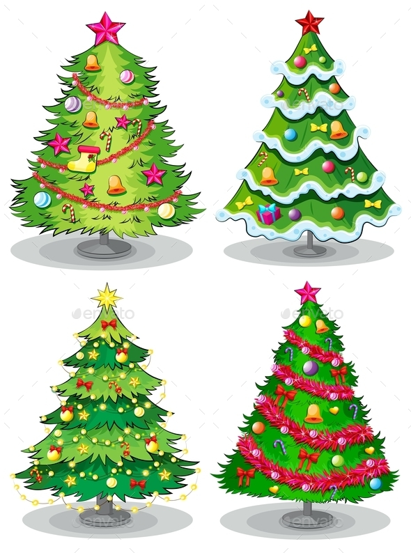 GraphicRiver Christmas Trees 9259070