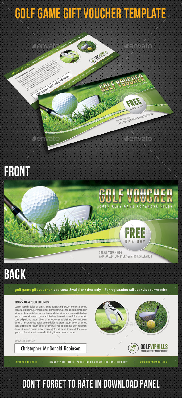 Golf Game Gift Voucher V03