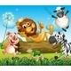 King Lion surrounded by Animals - GraphicRiver Item for Sale