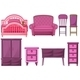 Furniture in Pink  - GraphicRiver Item for Sale