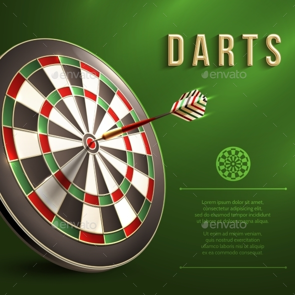 GraphicRiver Darts Board Background 9259261