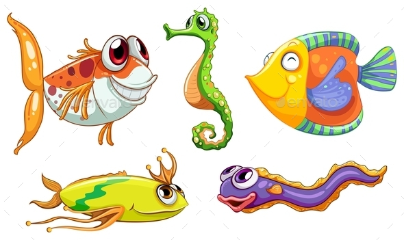 GraphicRiver Sea Creatures 9259307