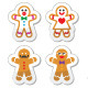 Gingerbread Man Christmas Icons Set - GraphicRiver Item for Sale