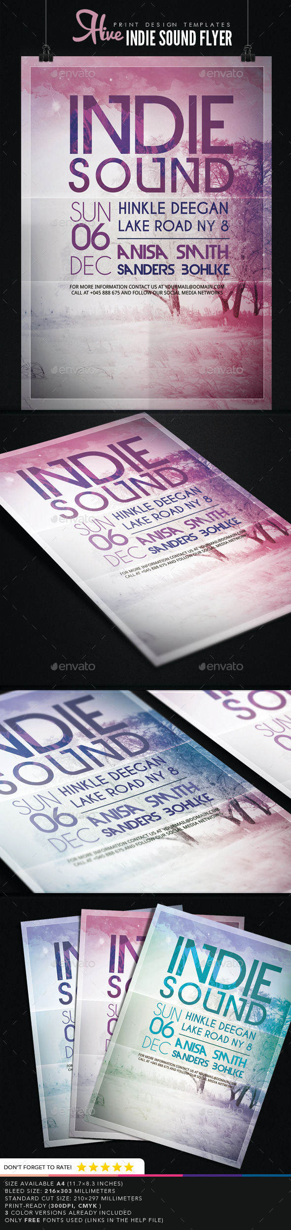 GraphicRiver Indie Sound Flyer 9259506