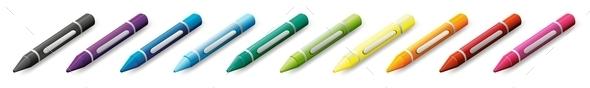 GraphicRiver Ten Colorful Crayons 9259509