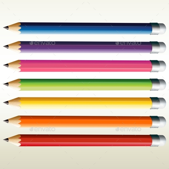 GraphicRiver Colorful Pencils 9259517