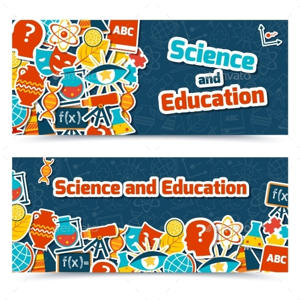 GraphicRiver Education Science Banners 9259540