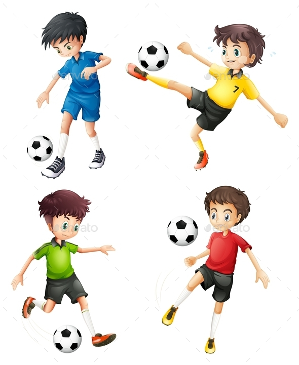 GraphicRiver Soccer Players 9259545
