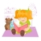 Girl reading Book  - GraphicRiver Item for Sale