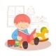 Boy reading Book - GraphicRiver Item for Sale
