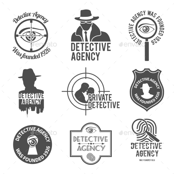 GraphicRiver Detective Label Set 9259594