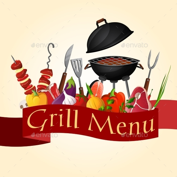 GraphicRiver Bbq Grill Background 9259606