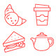 90 Thin Line Stroke Food and Beverage Icons - GraphicRiver Item for Sale