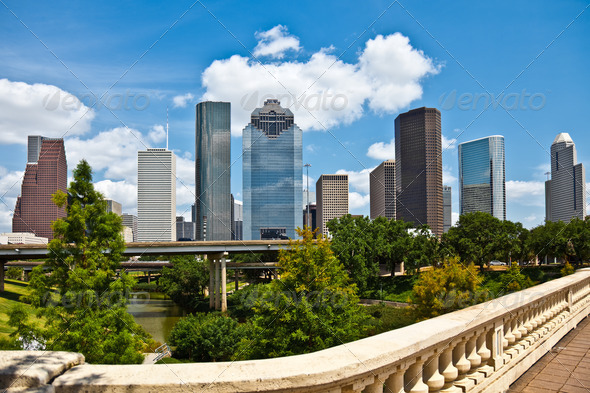 PhotoDune Downtown Houston Texas Cityscape Skyline 944974