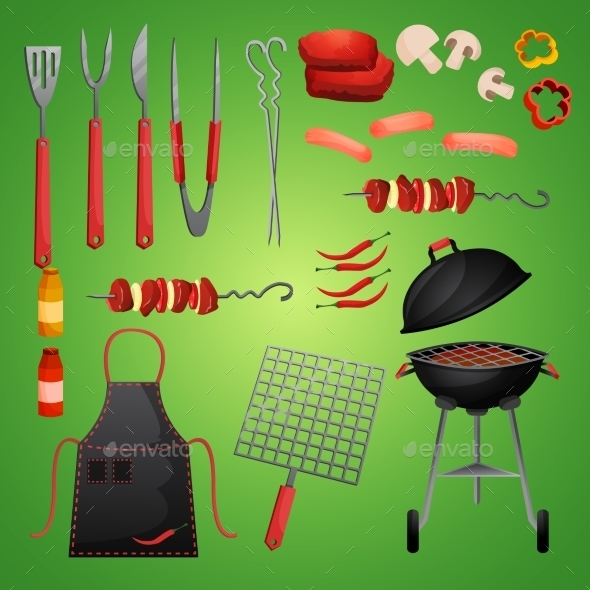 GraphicRiver Picnic Bbq Set 9259625