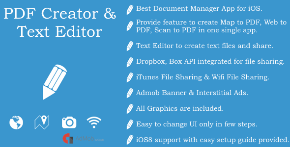 CodeCanyon PDF Creator & Text Editor Document Manager App 9259630